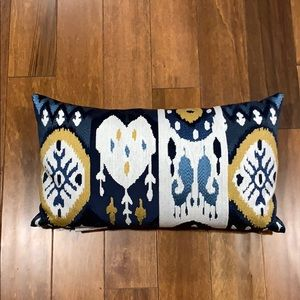 Blue & Gold throw pillow